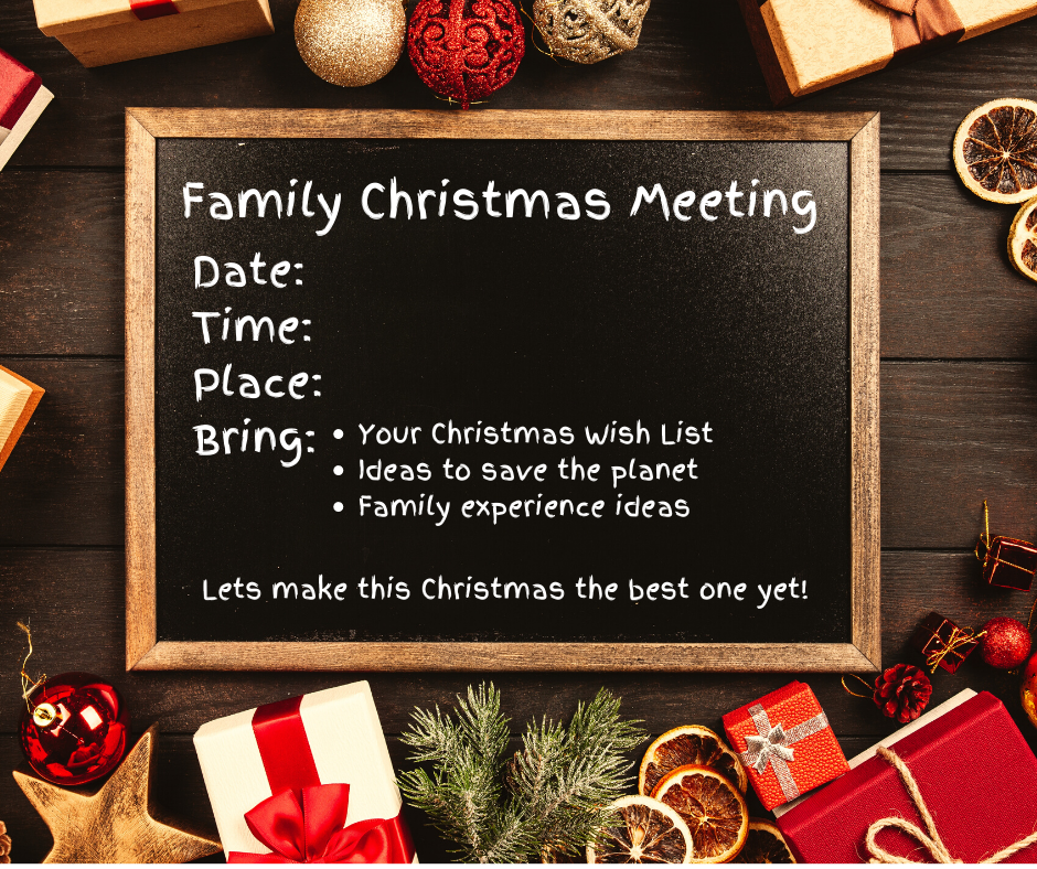 Family Christmas planning meeting invittion